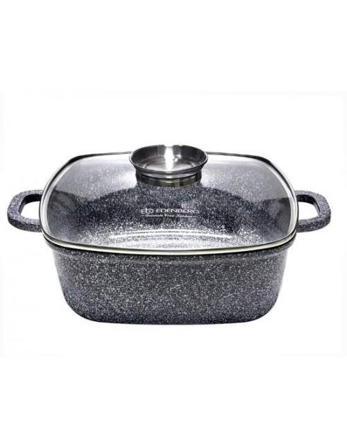Edënbërg Stonetec Line - Luxury Aluminum Saucepan with Lid - Ø 22 cm - 3.7 liters with Marble Inside